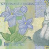Bancnota Romania 10.000 Lei 2000 - P112 UNC ( polimer - semnatura M.Isarescu) - Bancnota romaneasca