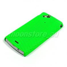 husa protectie verde airmesh Sony Ericsson SE Xperia Arc X12 mesh + folie ecran