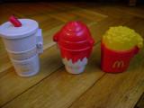 Set colectie lot Figurine McDonalds cartofi prajiti inghetata pahar suc Birdie The Early Bird Grimace Hamburglar la deschiderea lor se misca in sfera