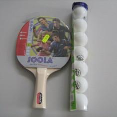 PALETE PALETA TENIS MASA JOOLA SPIRIT +SET MINGI TRAIN JOOLA 7 BUCATI/SET - Paleta ping pong