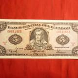 Bancnota 5 Cruzados Brazilia, cal.NC