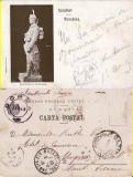 Salutari din Romania-editura Samitca Craiova-Statuia  Santinela -militara, Circulata, Printata