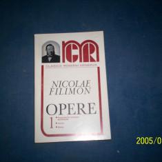 OPERE I -NICOLAE FILIMON