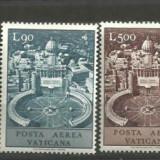Vatican 1967 - POSTA AERIANA MONUMENTE ISTORICE, serie nestampilata A45