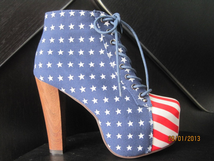 pantofi cu platforma ....steagul americii foto mare