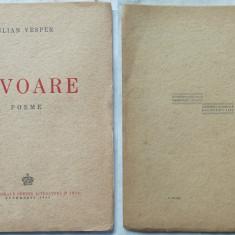 Iulian Vesper, Izvoare, Poeme, 1942, prima editie - Carte Editie princeps