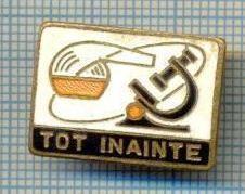 771 INSIGNA - TOT INAINTE - LOZINCA PIONIERI -starea care se vede foto