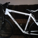 "Bicicleta montain bike,, Cross Head vail 2011"" - Mountain Bike, 28 inch, Numar viteze: 27, Aluminiu, Alb, Discuri"