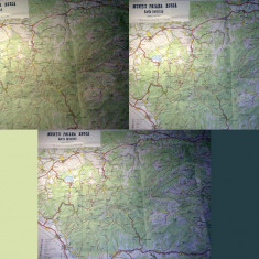 Harta turistica veche MUNTII POIANA RUSCA