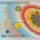 Bacnota eclipsa 2 000 lei din anul 1999, in stare buna, cu serie unica - Bancnota romaneasca