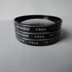 Set lentile AROMA +1, +2, +3 diametru 49mm, ne zgiriate