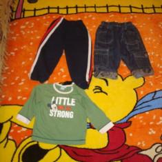 Haine copii 18-24 luni, O pereche de blugi, pantaloni trening, bluza Disney