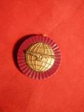Sigiliu Reclama Ceas Longines cca.1967 -plastic metalizat