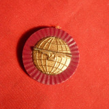 Sigiliu Reclama Ceas Longines cca.1967 -plastic metalizat - Piese Ceas