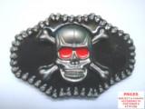 CATARAMA /PAFTA UNISEX  HARD ROCK  ,,BLACK SKULL'' !!, L/XL, Negru