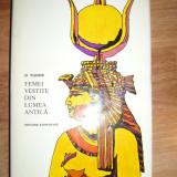 FEMEI VESTITE DIN LUMEA ANTICA D.TUDOR - Istorie