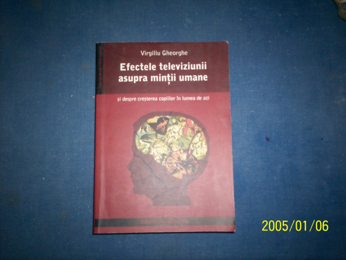 EFECTELE TELEVIZIUNII ASUPRA MINTII UMANE-VIRGILIU GHEORGHE