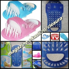 PAPUC UNIVERSAL MASAJ INTRETINERE PICIOARE 1000 PERI PIATRA PONCE CALCAIE PEDICHIURA DAMA BARBATI 8 VENTUZE EASY FEET AS SEEN ON TV TELESHOP PAPUCI - Echipament de masaj