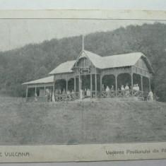 BAILE VULCANA - VEDEREA PAVILIONULUI DIN PADURE - INCEPUT DE 1900