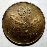 D.061 ITALIA 20 LIRE 1958 XF, Europa
