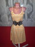 Rochie VERSACE - PRET EXCEPTIONAL, M, Orange, Cu bretele