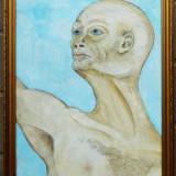 Portret de barbat - semnat Lucian - Pictor roman