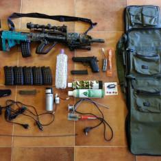 Arma airsoft Steyr AUG A3 + upgrades + accesorii multe + pistol bonus !
