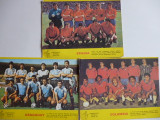 Lot 3 foto echipele de fotbal din Columbia, Uruguay si Spania 1990