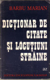 Barbu Marian-Dictionar de citate si locutiuni straine