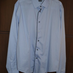 Camasa barbati ZARA MAN Slim Fit marimea XL Originala TRANSPORT GRATUIT, Culoare: Bleu, Maneca lunga