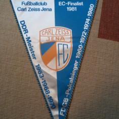 Fanion fotbal FC CARL ZEISS JENA DDR germania fan sport hobby