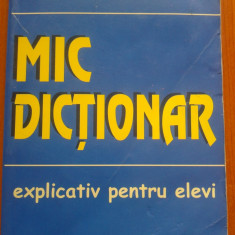 MIC DICTIONAR EXPLICATIV PENTRU ELEVI - Mihaela Marin, Alta editura