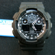 CASIO G-SHOCK GA-100-1A4ER, MODEL NOU 2016 !! TOTAL BLACK EDITION !! VEZI ANUNT - Ceas barbatesc Casio, Sport, Quartz, Cauciuc, Alarma, Analog & digital