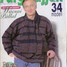 REVISTA DE TRICOTAJE CU TIPARE FURGE UJJAK NR. 10 DIN 1998 - Revista moda