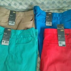 Pantaloni/ Blugi LEVI'S/LEVIS 100% ORIGINALI NOI STA-PREST W34 L32 SLIM FIT 513 - Pantaloni barbati Levi's, Culoare: Bej, Rosu