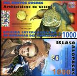 GALAPAGOS 1000 SUCRES 2009 (PRIMUL AN DE EMISIUNE) UNC - IGUANA DE GALAPAGOS
