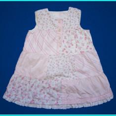 DE FIRMA _ Rochie fetite, roz, de vara, marca H&M _ fete | 12 - 18 luni | 86 cm, Marime: Alta