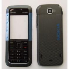Carcasa Nokia 5310 Xpressmusic Noua Completa Neagra Negru Gri cu Albastru