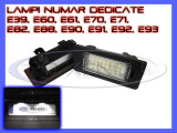SET LAMPI DEDICATE BMW E39, E60, E61, E70, E71, E82, E90, E91, E92 - LAMPA PLACUTA NUMAR INMATRICULARE - 24 LED LEDURI SMD - CULOARE ALB XENON 6000K, ZDM