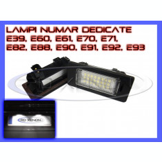 SET LAMPI DEDICATE BMW E39, E60, E61, E70, E71, E82, E90, E91, E92 - LAMPA PLACUTA NUMAR INMATRICULARE - 24 LED LEDURI SMD - CULOARE ALB XENON 6000K