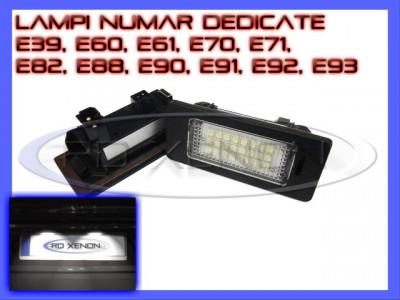 SET LAMPI DEDICATE BMW E39, E60, E61, E70, E71, E82, E90, E91, E92 - LAMPA PLACUTA NUMAR INMATRICULARE - 24 LED LEDURI SMD - CULOARE ALB XENON 6000K foto