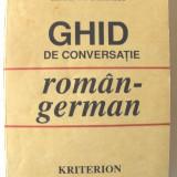 """GHID DE CONVERSATIE ROMAN - GERMAN"", Ilse Muller, 1992. Absolut nou"
