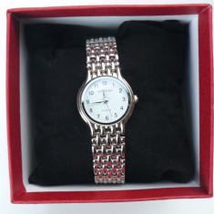 Ceas dama Longines CU BRATARA METALICA LG DW 201211 S, Quartz si cutie pt ceas, Casual, Inox, Analog