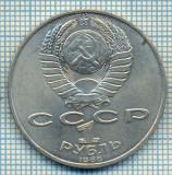 1102 MONEDA -RUSIA - 1 RUBLE (RUBL) -anul 1988(-comemorativa -TOLSTOI) -starea care se vede
