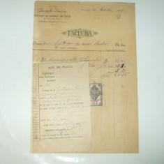 Factura Bucuresti, 1909, Gheorghe Ionescu, Fabricant de lumanari de ceara - Cartela telefonica romaneasca