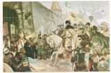 Carte postala(ilustrata) -D.STOICA-intrarea lui Mihai Viteazul in Alba Iulia