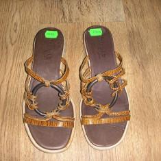 Sandale/papuci dama TIMBERLAND Comforia System originale noi piele 37 - Sandale dama Timberland, Culoare: Camel, Piele naturala
