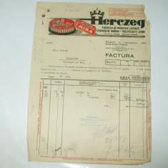 Factura Cluj, 1930, Geza Herczeg, Fabrica de produse chimice - Cartela telefonica romaneasca