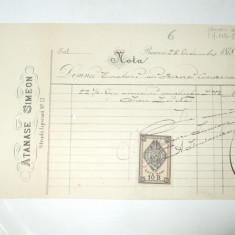 Nota Bucuresti, 1878, Atanase Simeon - Cartela telefonica romaneasca