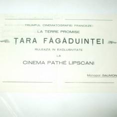 Reclama Bucuresti, Cinema Pathe Lipscani, Tara Fagaduintei - Cartela telefonica romaneasca